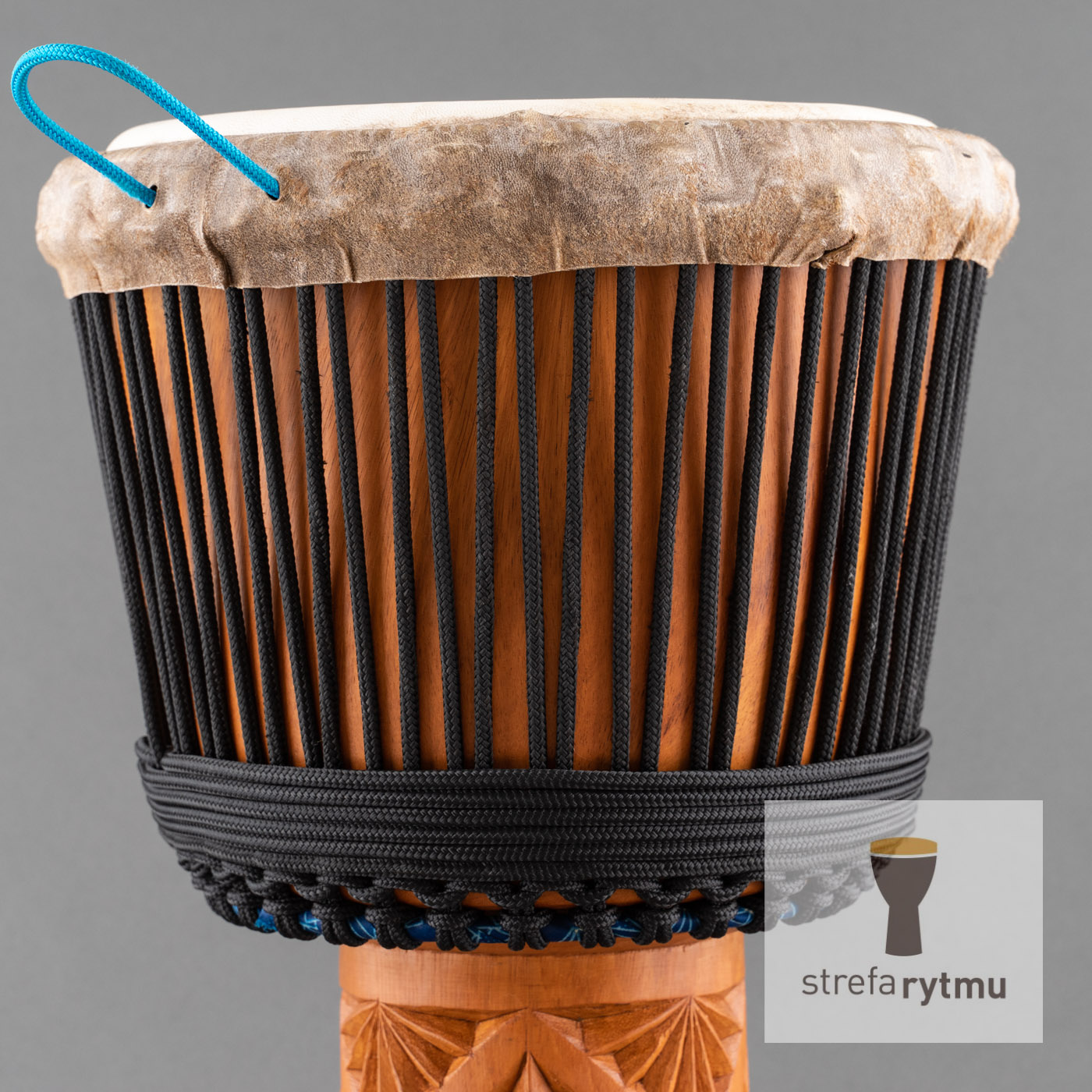 djembe from Guinea black rope
