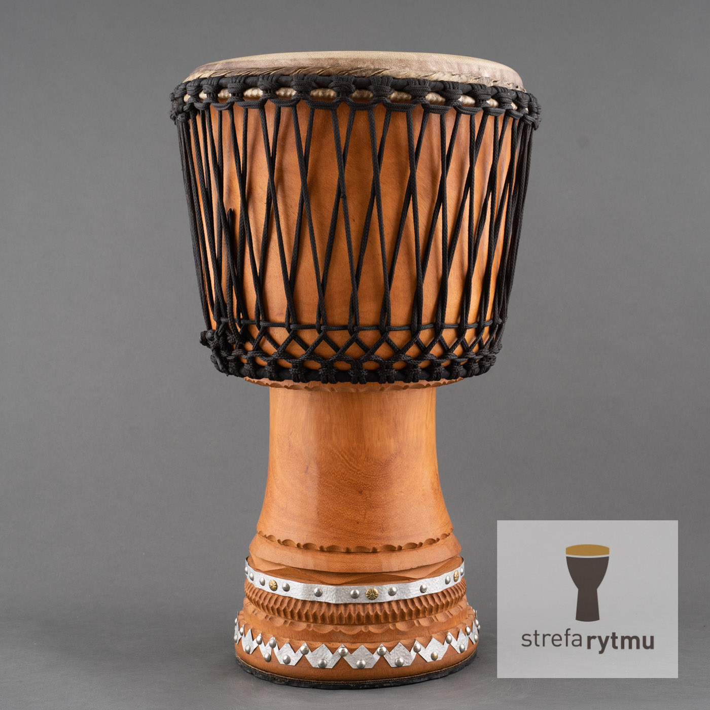 djembe metal decorated
